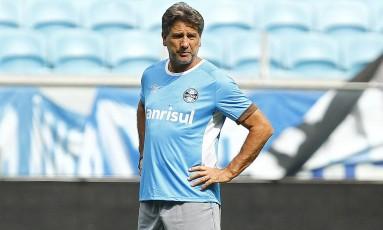 Renato Gaúcho comanda o último treino do Grêmio antes da decisão Foto: Divulgação/Grêmio