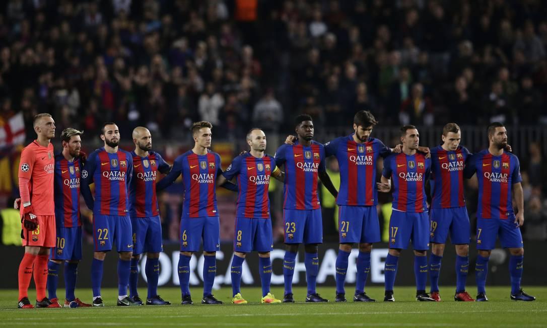 Time catalão mostrou, mais uma vez, solidariedade à equipe catarinense Manu Fernandez / AP