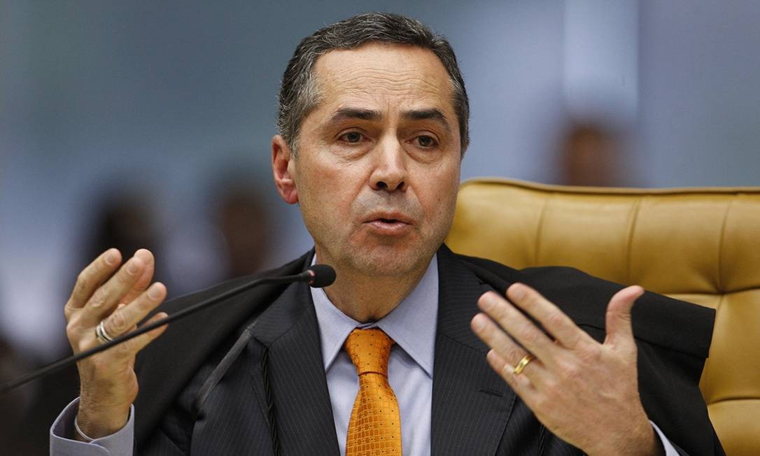O ministro Luís Roberto Barroso durante sessão do STF: pauta tem outras prioridades Foto: Agência O Globo
