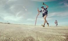 Vladmi Virgilio dos Santos, de 46 anos, estabeleceu recorde mundial ao completar 69km, em 9h15m Foto: Divulgação