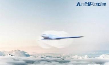 O avião AntiPode terá capacidade para 10 pessoas, segundo o projeto Foto: Divulgação/Imaginactive