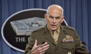 General John Kelly: militar iria para a Segurança Interna Foto: Reprodução