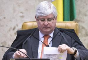 Janot diz que 'não é admissível' um réu na presidência do Senado Foto: Jorge William / Agência O Globo