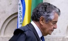 Marco Aurélio pede ao MPF investigação por descumprimento de ordem judicial sobre afastamento de Renan Foto: Jorge William / Agência O Globo