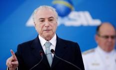 O presidente Michel Temer Foto: Jorge William / Agência O Globo / 7-12-2016