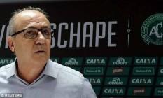 Ivan Tozzo, presidente em exercício da Chapecoense Foto: Reuters
