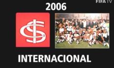 Fifa exibe escudo diferente do Inter e imagem do Corinthians comemorando Foto: Reprodução