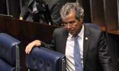 O Vice-presidente do Senado Jorge Viana (PT-AC), no plenário da Casa Foto: Givaldo Barbosa / Agência O Globo