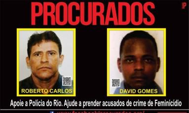 Suspeitos de crime de feminicídio Foto: Portal do Procurados