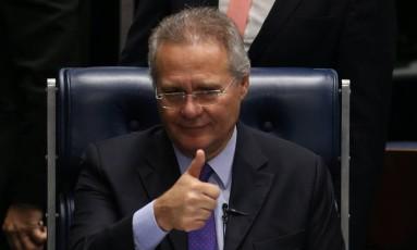 Renan diz que 'todos ganharam' com decisão do Supremo Foto: Ailton de Freitas / Agência O Globo