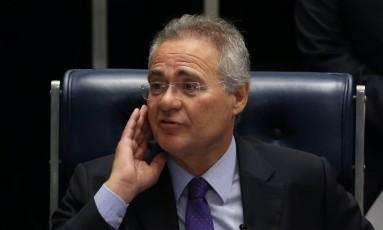 O Presidente do Senado Federal, Renan Calheiros Foto: Ailton de Freitas / Agência O Globo 08/ 12/ 2016