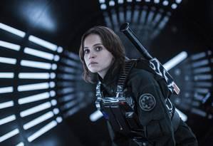 Em 'Rogue One', Felicity Jones interpreta a personagem Jyn Erso Foto: Jonathan Olley / AP