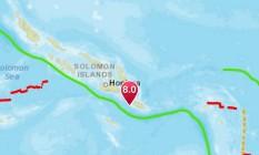 Terremoto atingiu Sul das Ilhas Salomão Foto: Reprodução