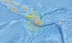 Terremoto atingiu Sul das Ilhas Salomão, com efeitos sentidos em toda a região Foto: Reprodução/USGS