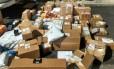 Encomendas roubadas por quadrilha Foto: Divulgação