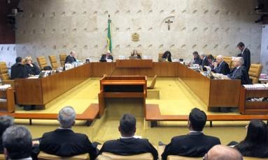 A sessão do Supremo Tribunal Federal (STF) que manteve Renan Calheiros na presidência do Senado Foto: Jorge William / Agência O Globo / 7-12/2016
