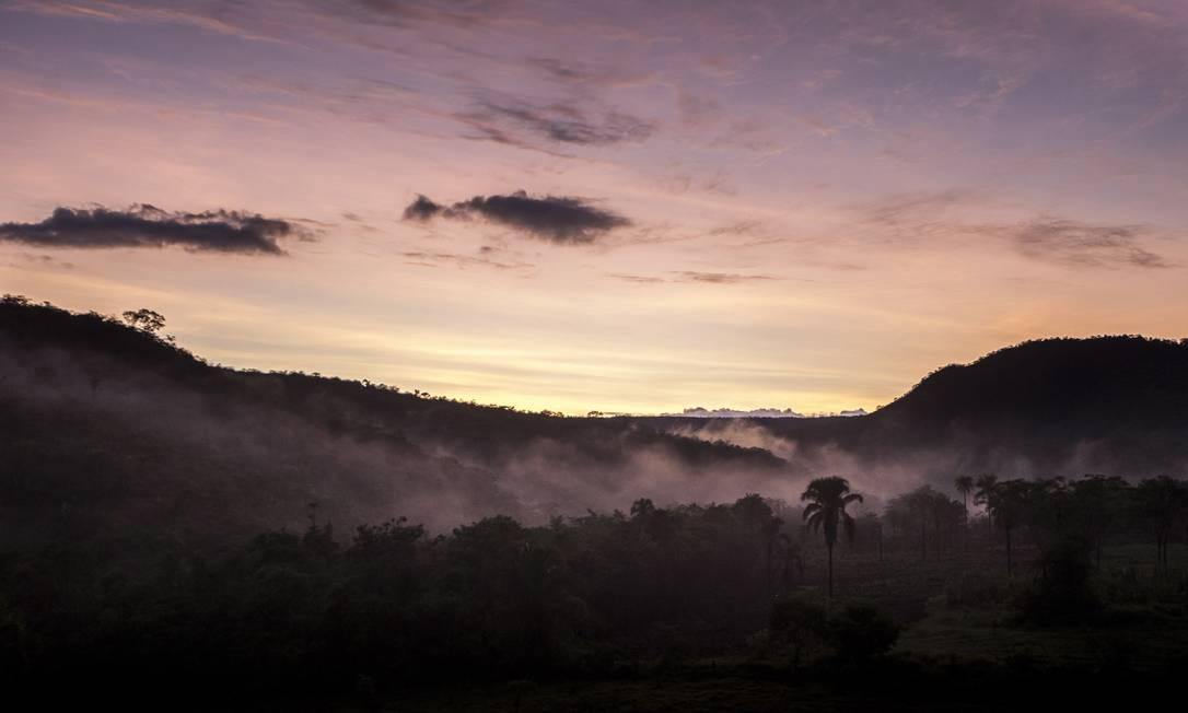 Amanhece no Cerrado, em área próxima à cidade de Alto Paraíso de Goiás Hermes de Paula / Agência O Globo