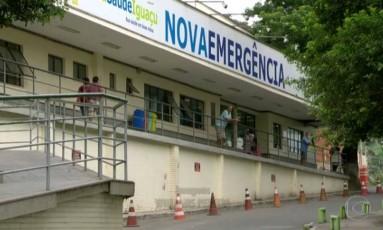 Hospital da Posse: falta de material e remédios Foto: Reprodução 'RJTV'