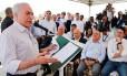 O presidente Michel Temer durante visita a Pernambuco