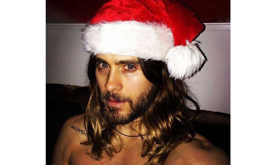 Jared Leto não ficou ainda mais gato de Noel? Reprodução Instagram