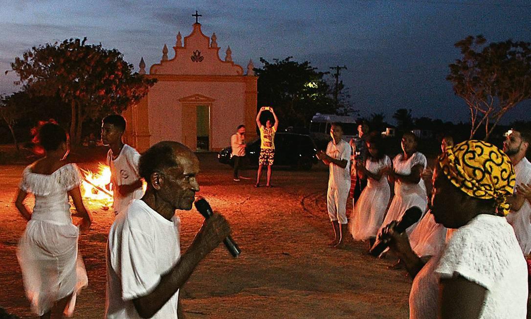 Jongo do Quilombo da Machadinha, em Quissamã Foto: Eduardo Maia / O Globo