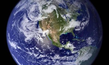 Imagem do planeta Terra registrada pela Nasa Foto: AFP