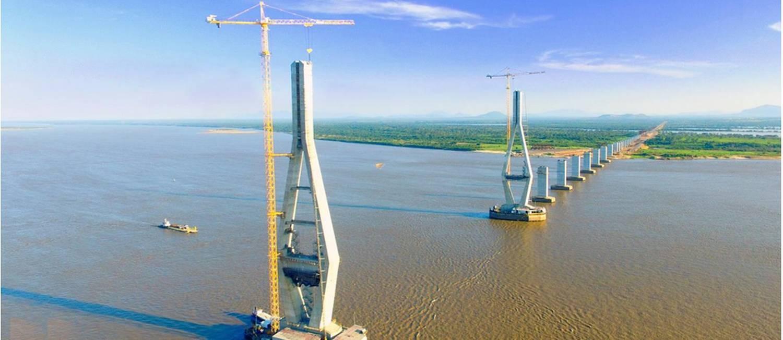 Incompleta. A terceira ponte sobre o Rio Orenoco, cuja obra custou US$ 1,682 bilhão, deveria ter ficado pronta em 2012: esse é um dos empreendimentos na Venzuela sobre os quais pairam suspeitas de corrupção envolvendo a Odebrecht Foto: Divulgação