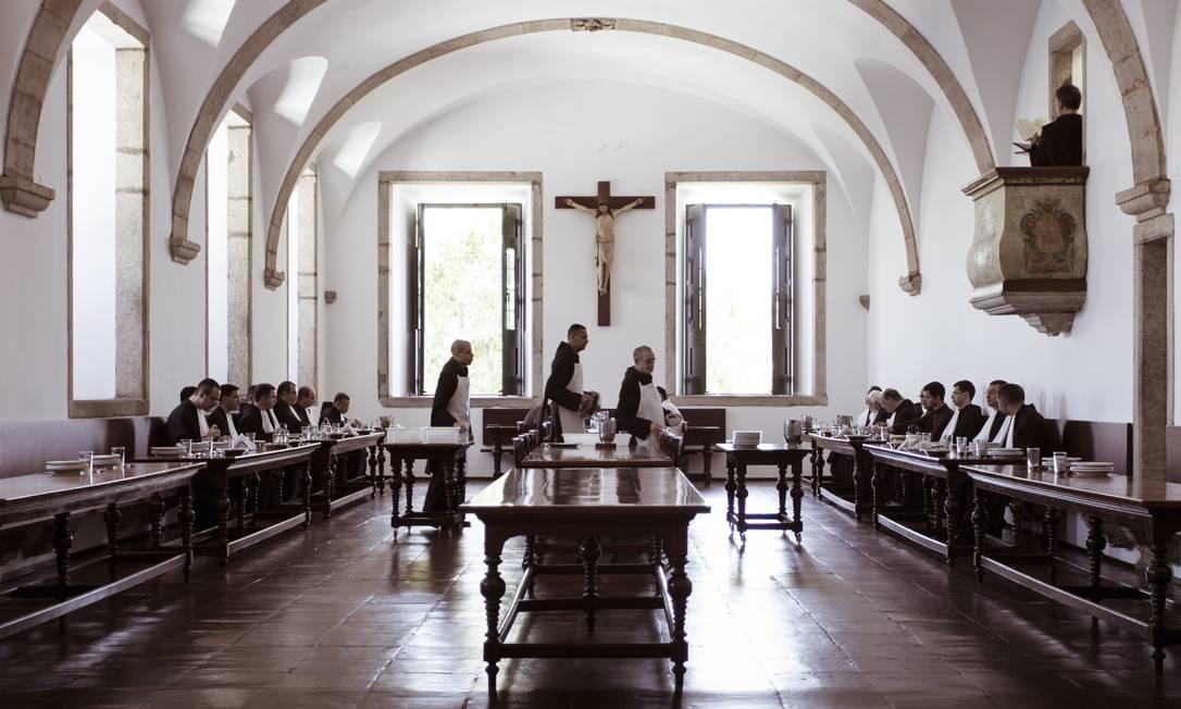 Quando os monges chegaram ao antigo morro da Conceição, antes de 1590, foram construídas acomodações para eles Foto: Leo Martins / Agência O Globo