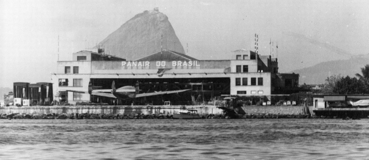 Foto de 1950: hangar da Panair do Brasil, uma das companhias aéreas pioneiras no país Foto: Artur da Costa / Acervo Jacy Gomes