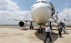 Presidente Michel Temer durante desembarque em Paulo Afonso na Bahia Foto: Beto Barata/Divulgação Presidência