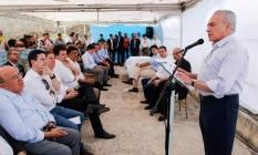 O presidente Michel Temer durante visita ao Nordeste Foto: Beto Barata / Presidência da República