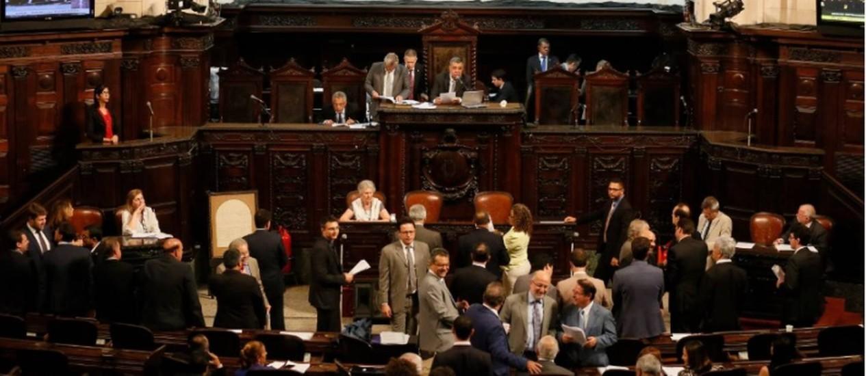 Sessão de votação de pacote de medidas do governo Foto: Pablo Jacob / O Globo