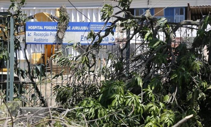 NI Niteroi (RJ) 07/12/2016 Hospital de Jurujuba - Obras do tunel. Foto de Fabio Rossi / Agencia O Globo Foto: Fabio Rossi / Agência O Globo