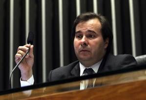 Delator acusa o presidente da Câmara, Rodrigo Maia (DEM-RJ), de receber propina para apoiar uma Medida Provisória Foto: Givaldo Barbosa/06-12-2016 / Agência O Globo