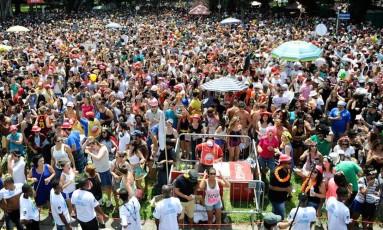 Público durante apresentação do bloco carioca Sargento Pimenta em um dos eventos do carnaval de rua paulistano, em 2016 Foto: Divulgação