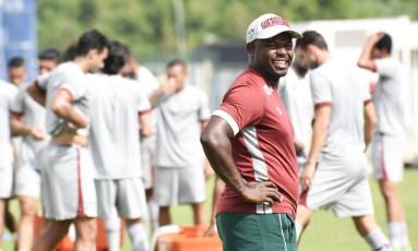 Marcão acompanha treino do Fluminense no CT da Barra da Tijuca Foto: Mailson Santana / Fluminense F.C.