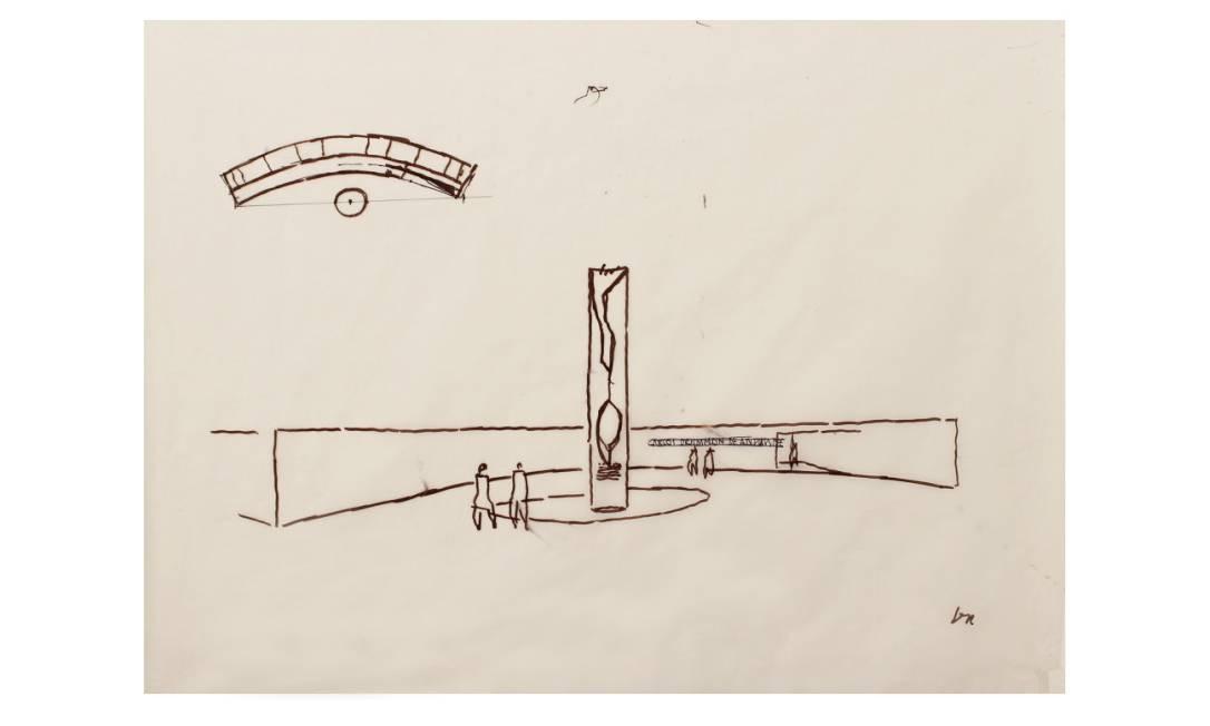 Desenho de Niemeyer guardado pelo bisneto Paulo Sérgio
