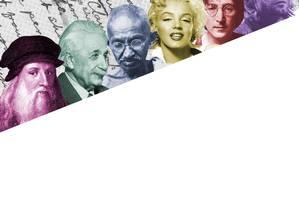 Algumas das personalidades cujas listas estão compiladas em livro Foto: Arte sobre fotos de arquivo