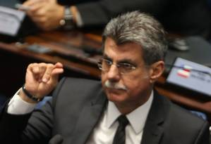 Delator deu detalhes da relação da Odebrecht com o líder do governo, Romero Jucá (PMDB-RR) Foto: Ailton de Freitas/23-11-2016 / Agência O Globo