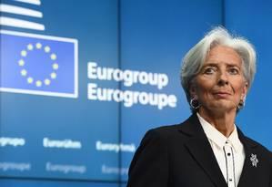 A diretora-gerente do FMI, Christine Lagarde Foto: EMMANUEL DUNAND / AFP/16-2-2015