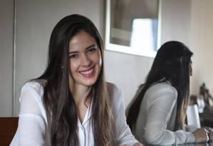 """Segurança. """"Sou conservadora, então aplico em produtos de baixo risco"""", diz a advogada Luiza Mesquita Campos Foto: MARCOSALVES / Marcos Alves"""