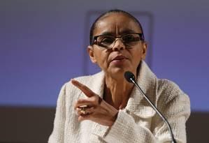 A ex-senadora Marina Silva Foto: Edilson Dantas / Agência O Globo / 21-6-2016