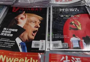 Trump é destaque em revistas em Pequim Foto: GREG BAKER / Greg Baker/AFP
