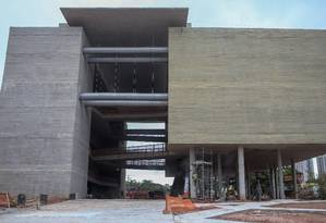 Museu do Trabalhador: obra inciada em 2012 ainda não foi concluída Foto: Pedro Kirilos