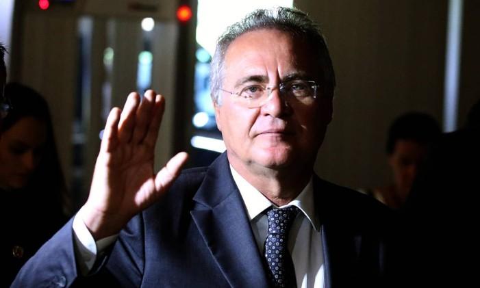 O presidente do Senado, Renan Calheiros (PMDB-AL) Foto: Jorge William / Agência O Globo / 13-12-2016