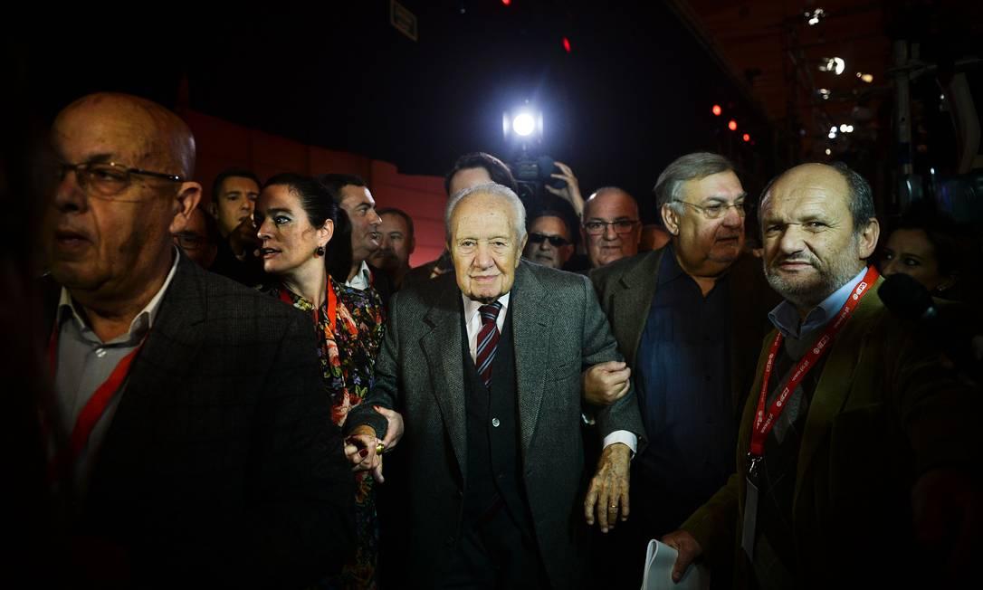 Mario Soares: 40 anos no cenário político Foto: PATRICIA DE MELO MOREIRA / AFP