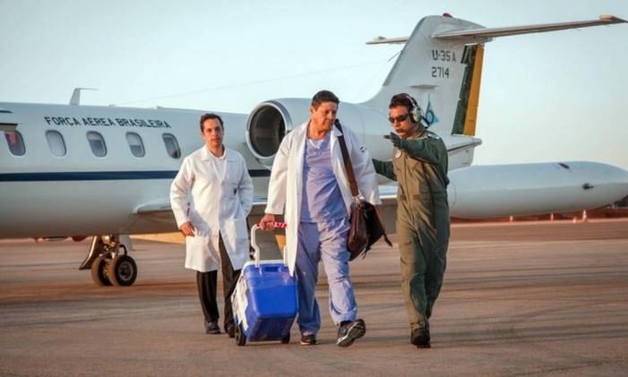 Aviao da FAB usado para transplante de órgãos Foto: Andre Feitosa / FAB
