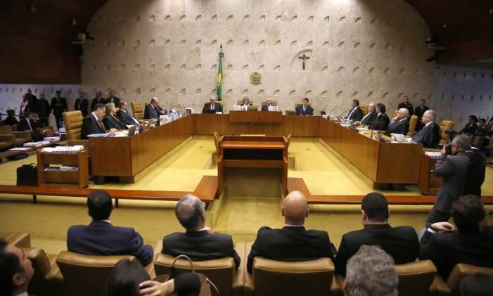 Sessão do Supremo Tribunal Federal no dia 5 de novembro Foto: Jorge William / Agência O Globo / 5-10-2016