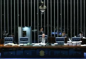 Renan diz que 'Brasil está precisando de uma Lei de Abuso de Autoridade' Foto: André Coelho / Agência O Globo