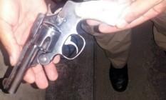 Arma apreendida com o adolescente Foto: Divulgação / PRF